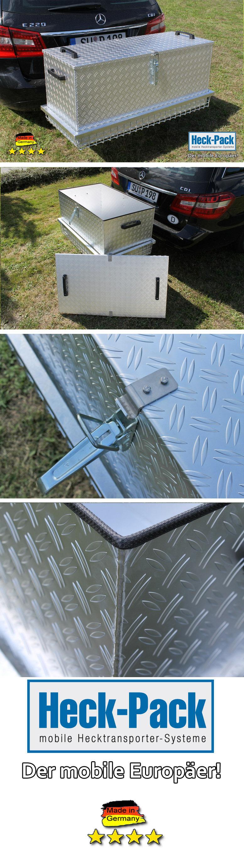 heck pack transportbox aus alu f r hecktransporter. Black Bedroom Furniture Sets. Home Design Ideas